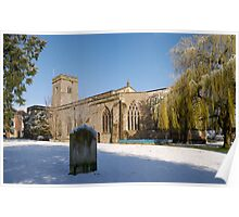 Snow Holy Trinity Church Much Wenlock Poster