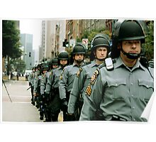 Marching Line of Policemen - Pittsburgh G20 Poster