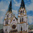 St John the Baptist Church religious art print by derekmccrea