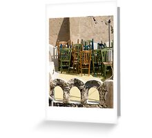 Chairs On Chairs Greeting Card