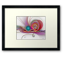 'Light Flame Abstract 123 (Constructive Confusion)' Framed Print