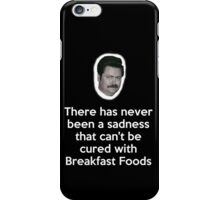 Sadness Cured with Breakfast Food iPhone Case/Skin