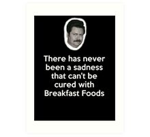 Sadness Cured with Breakfast Food Art Print