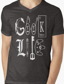 Geek Life White Version Mens V-Neck T-Shirt