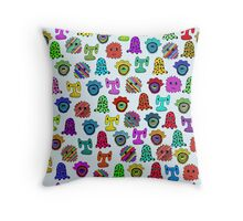 pattern with monsters Throw Pillow