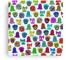 pattern with monsters Canvas Print