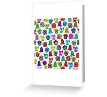pattern with monsters Greeting Card