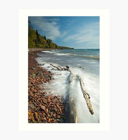Lake Movement, Lake Superior. Art Print