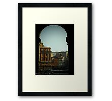 Rome - peekaboo Framed Print