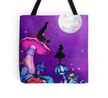 Alice in Wonderland and Caterpillar Tote Bag