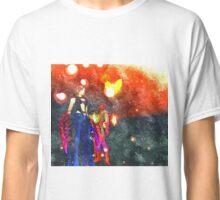 Warrior girl flame panorama Classic T-Shirt