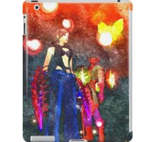 Warrior girl flame panorama iPad Case/Skin