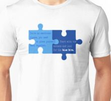 Man Up - Look for the Blue Bits  Unisex T-Shirt