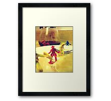 The Day The Cowboys & Indians Came To Breakfast Framed Print