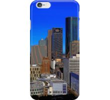 Downtown Houston Painted iPhone Case/Skin