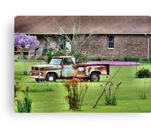 Front Yard Truck Canvas Print