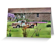 Front Yard Truck Greeting Card