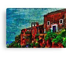Old Sea House Fine Art Print Canvas Print