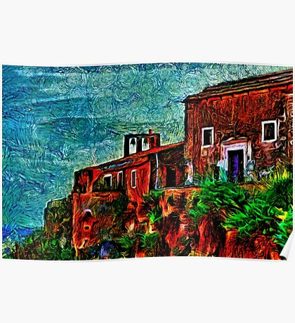 Old Sea House Fine Art Print Poster