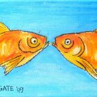 Kissing Goldfish by Alexandra Felgate