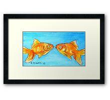 Kissing Goldfish Framed Print