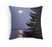 Moonlight on Lake Superior (Minnesota) Throw Pillow