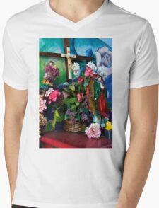 Chicano Park Shrine Mens V-Neck T-Shirt