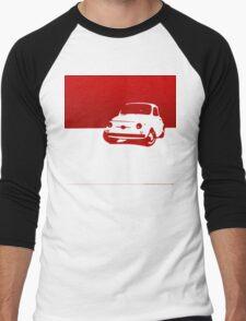 Fiat 500, 1959 - Red on white Men's Baseball ¾ T-Shirt