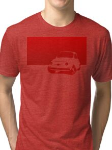 Fiat 500, 1959 - Red on white Tri-blend T-Shirt