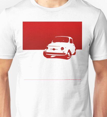 Fiat 500, 1959 - Red on white Unisex T-Shirt