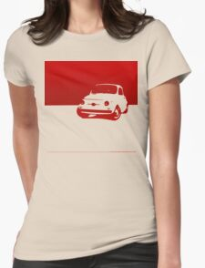 Fiat 500, 1959 - Red on white Womens Fitted T-Shirt