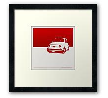 Fiat 500, 1959 - Red on white Framed Print