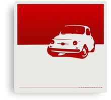 Fiat 500, 1959 - Red on white Canvas Print