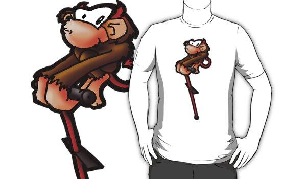 Demonic Monkey on a Pogostick! by pezblack