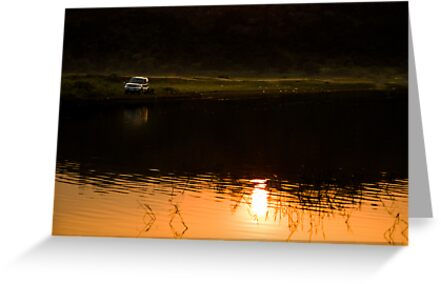 My SUV and sunset by Dinni H