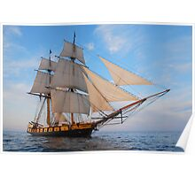 """The Brig Niagara """"Starboard Bow""""  Poster"""
