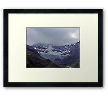 Snowpack,Maligne Lake Framed Print
