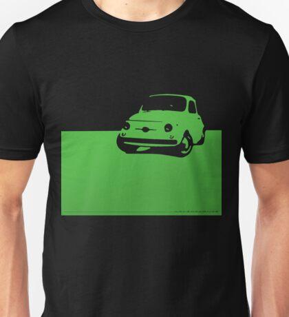 Fiat 500, 1959 - Green on black Unisex T-Shirt