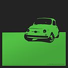 Fiat 500, 1959 - Green on black by uncannydrive