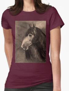 Carol in Sepia Womens Fitted T-Shirt