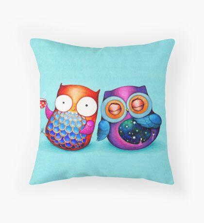 Night Owl Morning Owl Throw Pillow