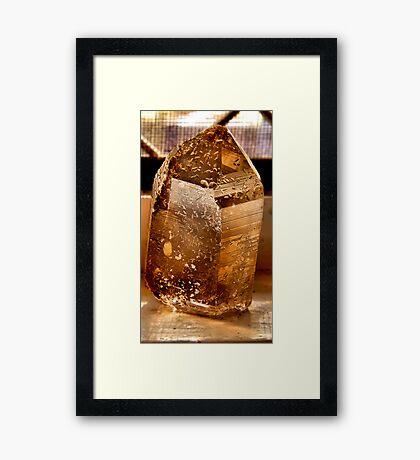 Etched smokey Quartz Framed Print