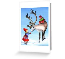 Reindeer Girl Greeting Card