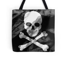Skull and Crossbones Flag Tote Bag