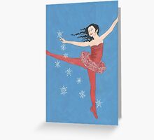 Christmas Snowstorm Greeting Card