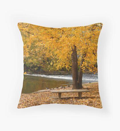 Red Cedar Autumn (Art Card) Throw Pillow