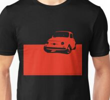 Fiat 500, 1959 - Red on black Unisex T-Shirt