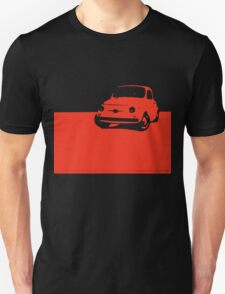 Fiat 500, 1959 - Red on black T-Shirt