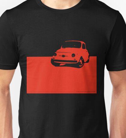 Fiat 500, 1959 - Red on black Unisex T-Shirt