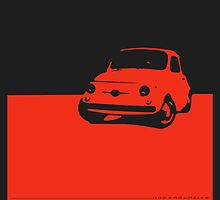 Fiat 500, 1959 - Red on black by uncannydrive
